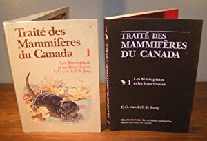 TRAITÉ DES MAMMIFÈRES DU CANADA 1 Les: Van ZYLL DE