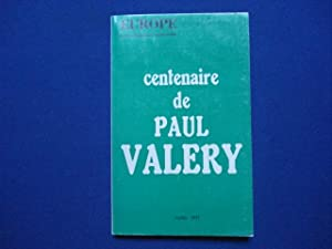 Europe Centenaire de Paul Valery No 507 juillet 1971