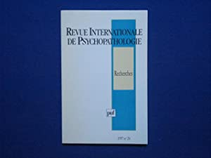 Revue internationale de psychopathologie 1997 numero 24 : recherches
