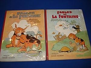 Les Fables de LA FONTAINE illustrées par: LA FONTAINE Jean,