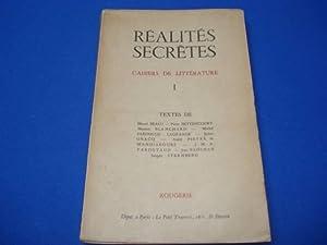 Réalités secrètes N° I. Cahiers de Littérature.: BEALU Marcel /