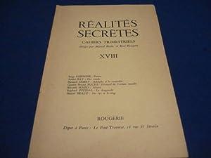 Réalités Secrètes. Cahiers Trimestriels. XVIII.: BEALU Marcel /