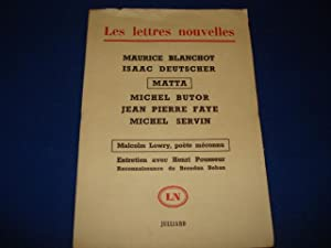 LES LETTRES NOUVELLES 29. Maurice Blanchot. Isaac: Collectif