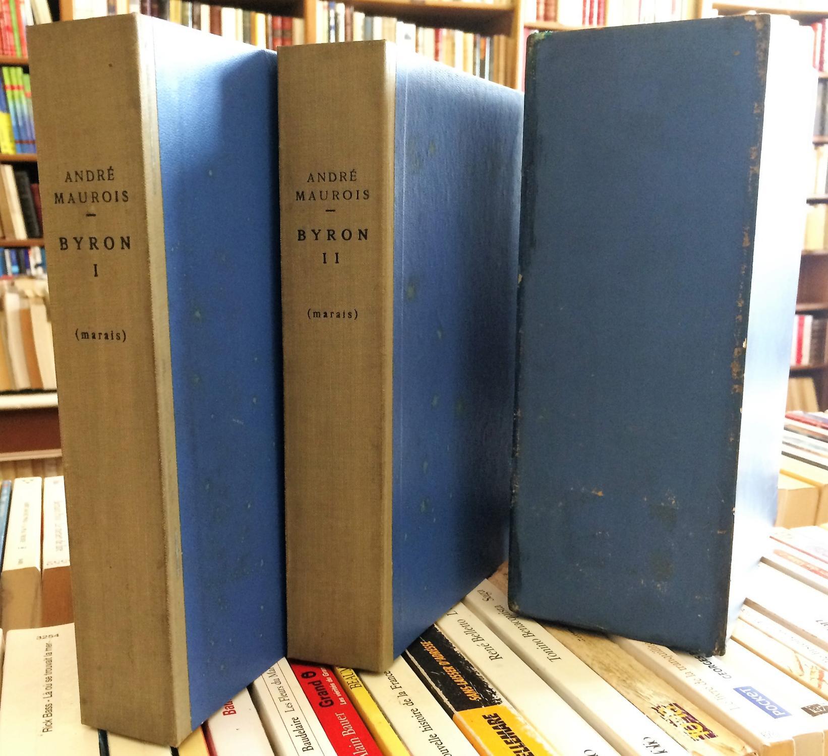 Byron_en_2_volumes_MAUROIS_André_Très_bon_Couverture_souple