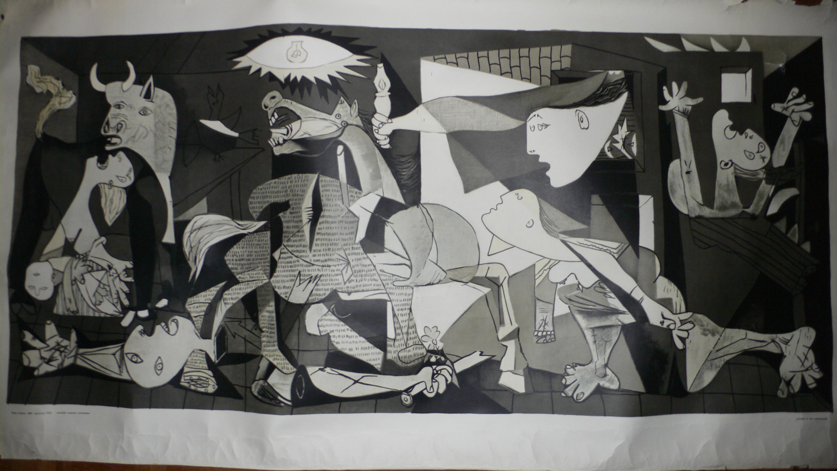 Guernica. by PICASSO, Pablo.: (1975) Art / Print / Poster   Librairie Scritti