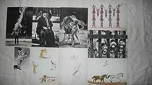 CIRQUE. 9 photographies-dessins de cirque, 5 photographies