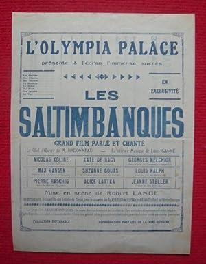 Affichette du film Les Saltimbanques à l'Olympia: Olympia