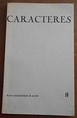 Caractères - Revue de poésie contemporaine n°10: Fabre d'Olivet, Paul