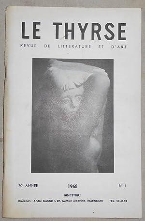 Le Thyrse n°1 revue de littérature et: Paul Alexis Robic,