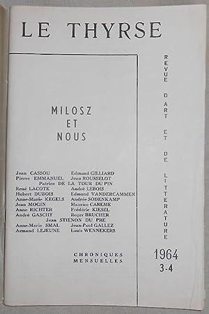 Le Thyrse n°3-4 revue de littérature et: André Gascht, Jean