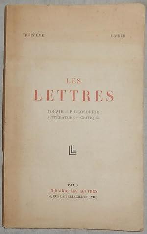 Les Lettres poésie-philosophie-littérature-critique- troisième cahier: Jean Cassou, René
