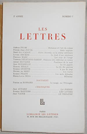 Les Lettres n°7: Gaëtan Picon, Pierre