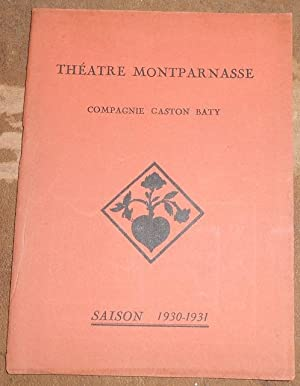 Programme du Dibbouk au Théâtre Montparnasse: Shalom An-Ski
