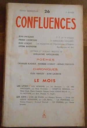 Confluences n°26 Revue de la Renaissance Française: Jean Paulhan, Pierre
