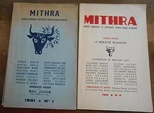 Mithra cahiers littéraires et artistiques franco-suisses allemands: Hervé Bazin, Marcel
