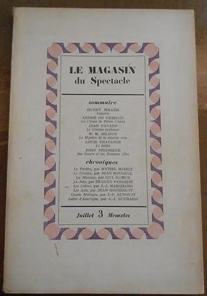 Le Magasin du Spectacle revue mensuelle du: Henry Miller, André