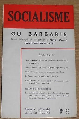 Socialisme ou Barbarie n°33 – Organe de Critique et d'Orientation Révolutionnaire: Paul ...