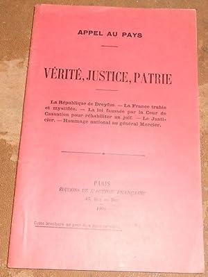 Appel au Pays – Vérité, Justice, Patrie: Henri Dutrait-Crozon