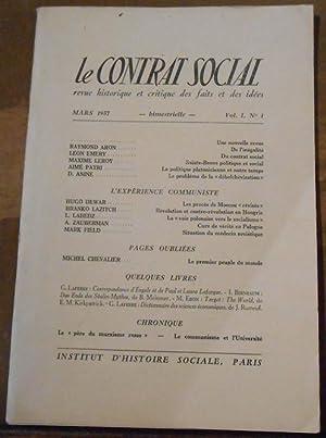 Le Contrat Social revue historique et critique: Boris Souvarine, Raymond