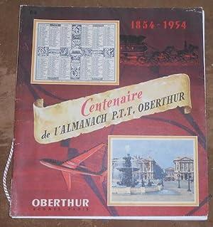 1854-1954 Centenaire de l'Almanach P.T.T. Oberthur