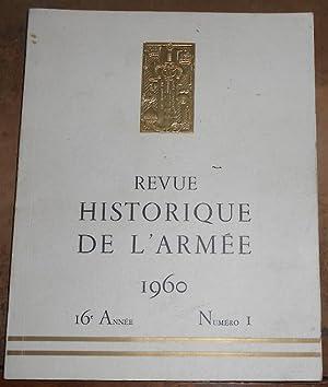 Revue Historique De L'Armée 1960: M. Klein-Rebour, Marc-André