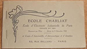Album de Cartes Postales Ecole Charliat Ecole d Electricité Industrielle de Paris et Cours d Auto...