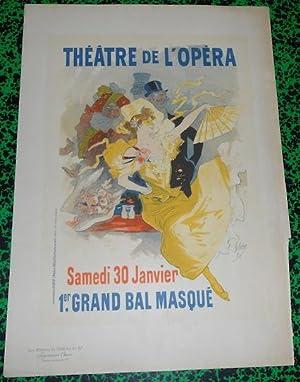 Affiche Jules Chéret Grand Bal Masqué Les: Jules Chéret