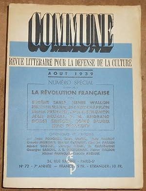 Commune n°72 numéro spécial consacré à la: Eugène Tarlé, Henri