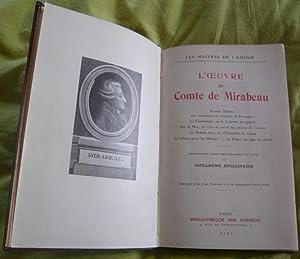 L'œuvre du comte de Mirabeau – Erotika: comte de Mirabeau