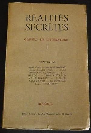 Réalités Secrètes - cahiers trimestriels de littérature: Pierre Albert-Birot, Alphonse