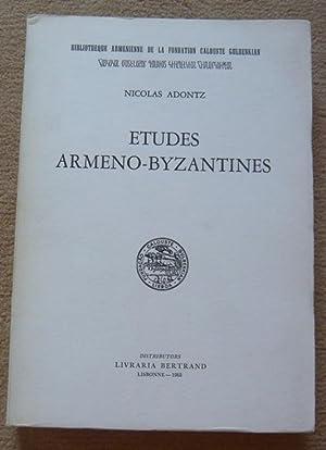 Etudes Armeno-byzantines: Nicolas Adontz