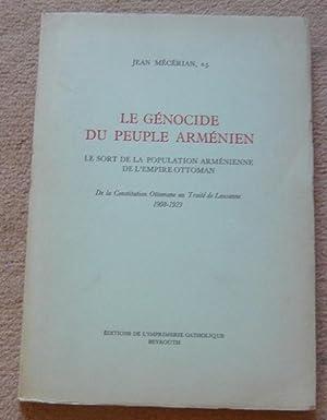 Le génocide du peuple arménien - le: Jean Mécerian