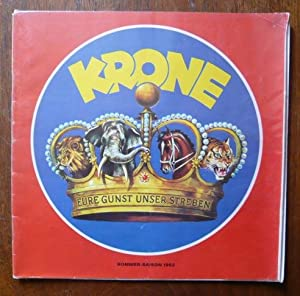 Programme du Cirque Krone saison 1982: Cirque Krone