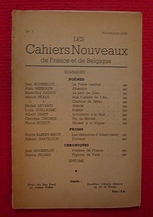 Les Cahiers Nouveaux de France et de: Jean Rousselot, Alain
