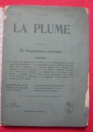 La Plume - n° 343-344 - 1er-15: Guillaume Apollinaire, Anirebo,