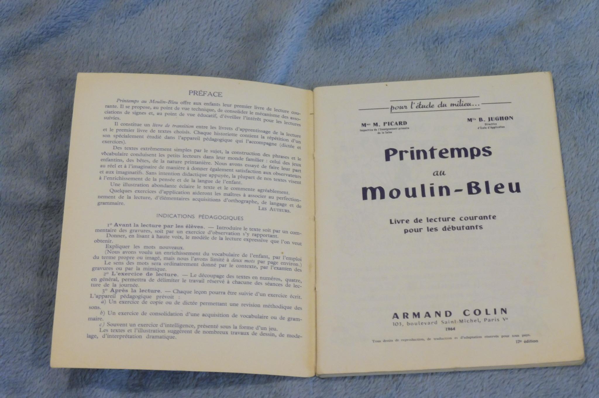 Printemps Au Moulin Bleu Livre De Lecture