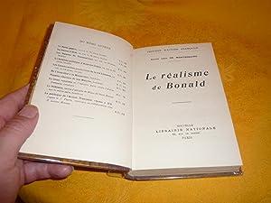 Institut D'Action Française. Le Réalisme De Bonald.: Montesquiou Léon De Comte