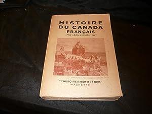 Histoire Du Canada Français: Lemonnier Léon