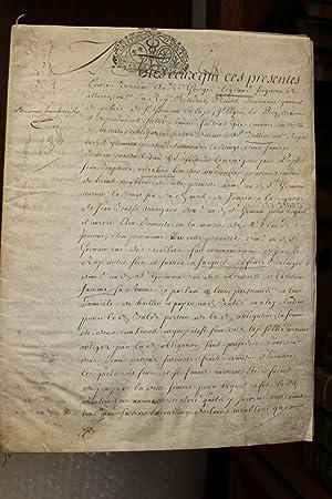 Important Document Manuscrit Date De 1736 24p Andre Georges Legrand 1665