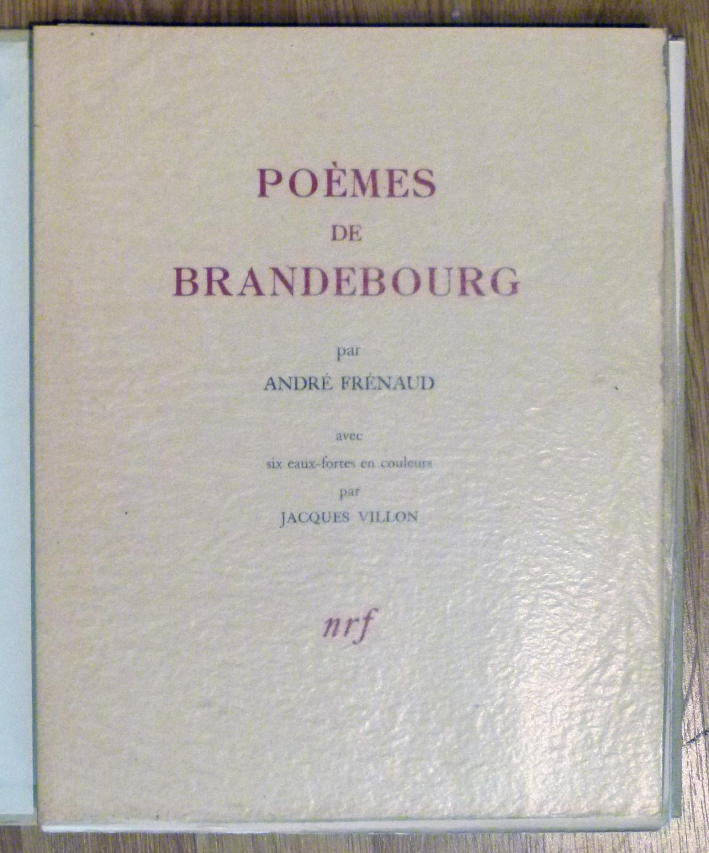 Poèmes De Brandebourg Avec Six Compositions