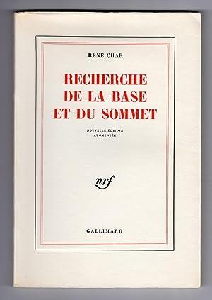 RECHERCHE DE LA BASE ET DU SOMMET.: CHAR, René