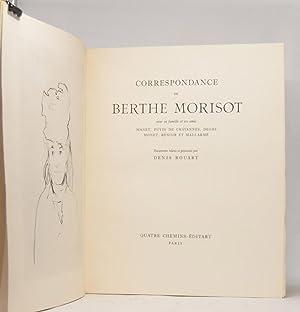 CORRESPONDANCE DE BERTHE MORISOT avec sa famille: MORISOT, Berthe /