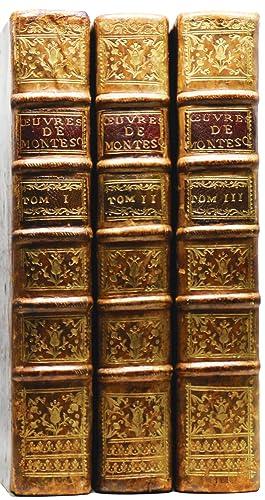 OEUVRES DE MONSIEUR DE MONTESQUIEU, Nouvelle édition,: MONTESQUIEU, Charles-Louis de