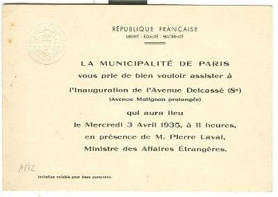 Carton D Invitation Pour L Inauguration De