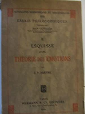 ESQUISSE D?UNE THEORIE DES EMOTIONS