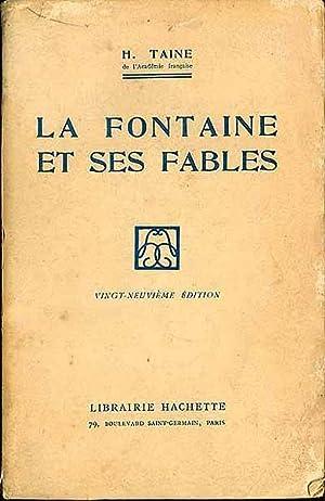 """Résultat de recherche d'images pour """"La Fontaine et ses fables - H. Taine, Librairie Hachette"""""""
