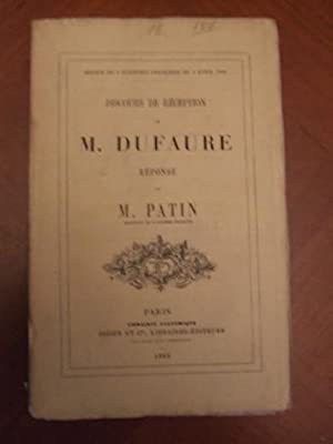 Discours De Réception à L'académie Française De