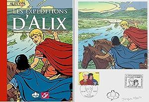 Les expéditions d'Alix + Ex libris signé.: Bande dessinée - Philatélie ) - ...