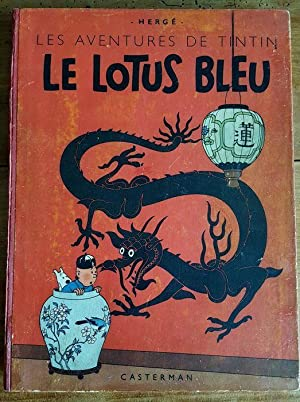 """Le Lotus Bleu. ( Première version """" grande image """" en noir & blanc, amis avec ..."""