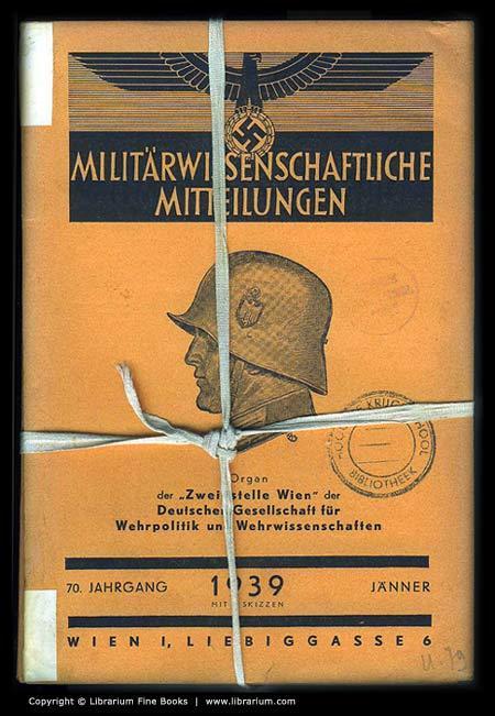 """Militärwissenschaftliche Mitteilungen. """"Zweigstelle Wien"""" [Deutschen Gesellschaft f&..."""